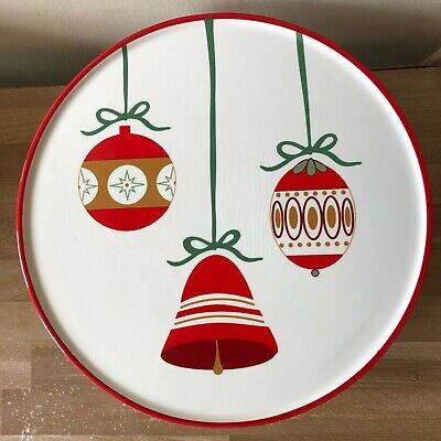 Lovely Martha Stewart Christmas Holiday Ornaments Design Large Cake Stand