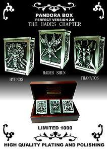 2013 Saint Seiya Pandora Box Hades 2.0 Shun Hypnos Thanatos Set + Wooden Box