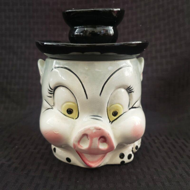Vintage Porky Pig Cookie Jar Japan Cute