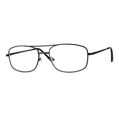 Clear Lens Glasses With Bifocal Reading Lens Metal Rectangular Spring (Clear Glasses With Reading Bifocal)