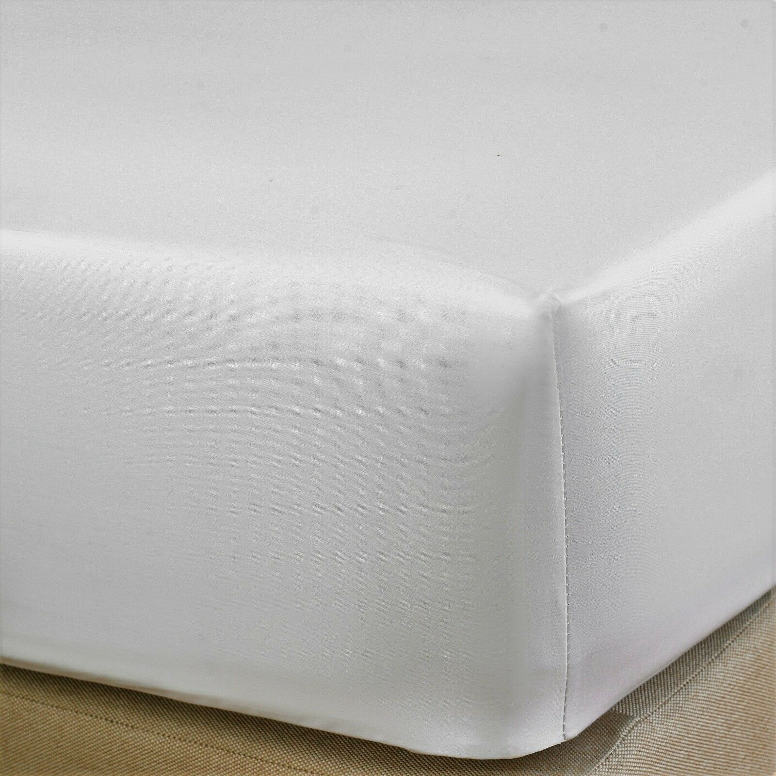"Extra Deep Fitted Sheet 16/""//40CM 100/% Egyptian Cotton 200TC all 5 sizes 7 colors"