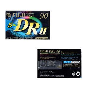 5 Fuji DRII Audio Cassette Tape 90 minutes 90 min Blank Audio Tape Chrome Type 2