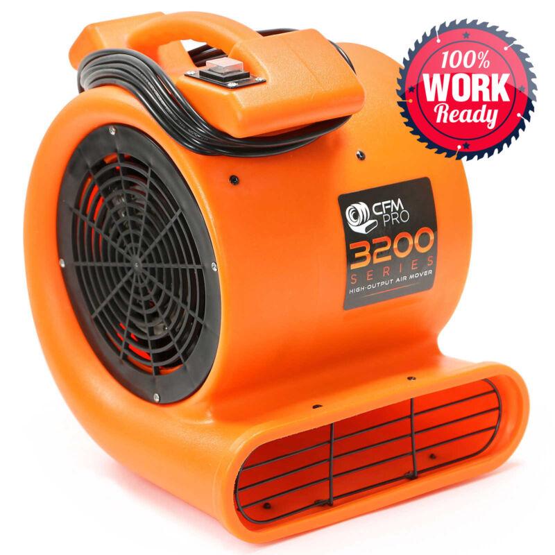 Air Mover 2 Speed 1/2 HP Blower Fan - Industrial - Orange