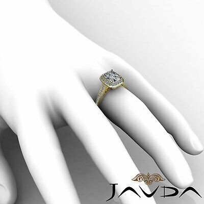 Cushion Diamond Engagement Unique Ring GIA Certified F SI1 14k White Gold 1.7 ct 11