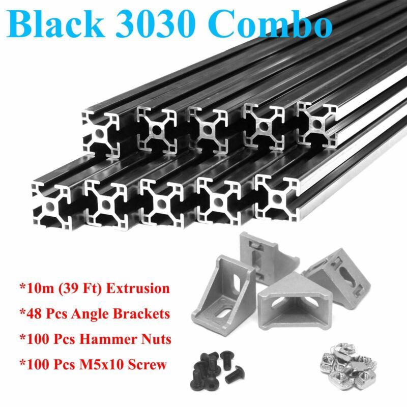 Black 10 Pack ZYLtech 3030 30mm Aluminum Extrusion - 10X 1M