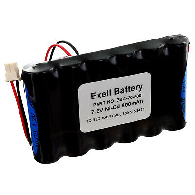 Security Alarm Battery Backup (7.2V 800mAh Back-Up Battery for Security Alarm Systems 781410403291 L5200)