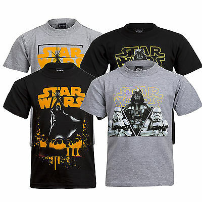 Boys Official Star Wars Printed T-Shirt Top Age 6 to 14 Years 100% Cotton