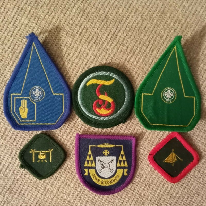 Vintage 1980s Northern Ireland Scout Patches and Badges Scouting Irish