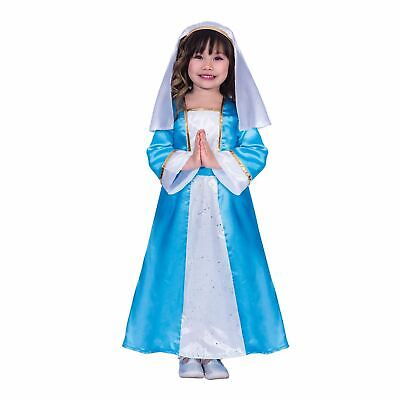 Girls Kids Nativity Virgin Mary Classic Blue White - Mary Nativity Play Costume