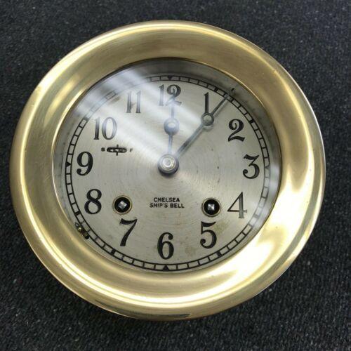 "4 1/2"" Chelsea Ships Bell Clock"