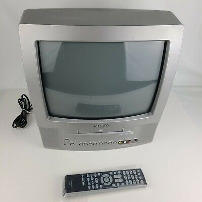 "Toshiba MD13N1 13"" CRT TV DVD Combo + Remote for Retro Gaming RV Campers"