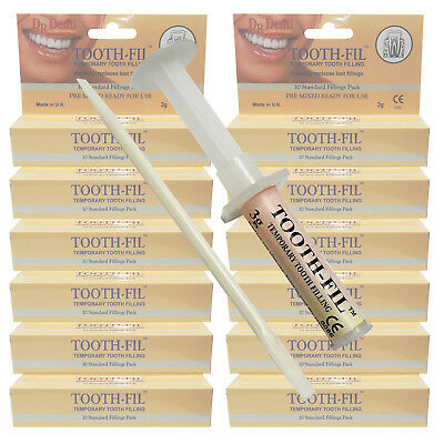 Dr Denti Temporary Tooth Teeth Dental Emergency Repair Filling Care Kit 12 (Emergency Dental Care)