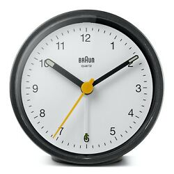 Braun BN-BC12BW Black White Round Quartz Classic Alarm Clock