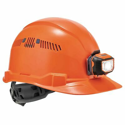 Ergodyne Skullerz Vented Cap Style Hard Hat With Led Light - Orange