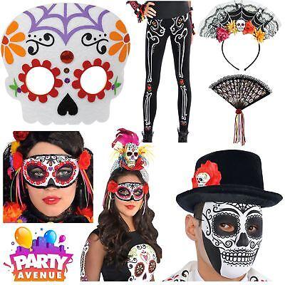 Day of the Dead Costume Accessories Halloween Sugar Skull Fl