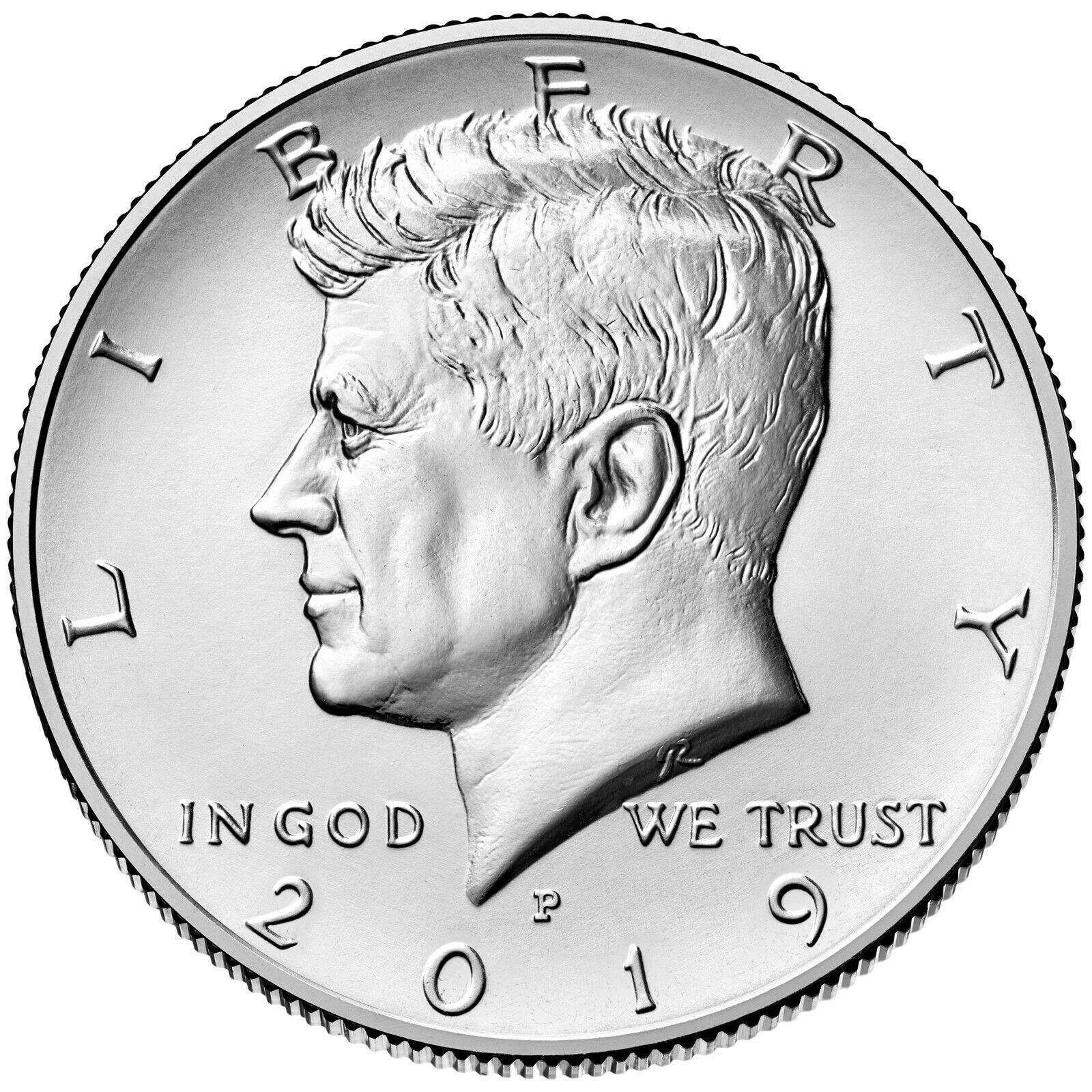 "2019 P&D JOHN F. KENNEDY HALF DOLLAR 2 Coin Set UNCIRCULATED ""FROM MINT ROLLS"""