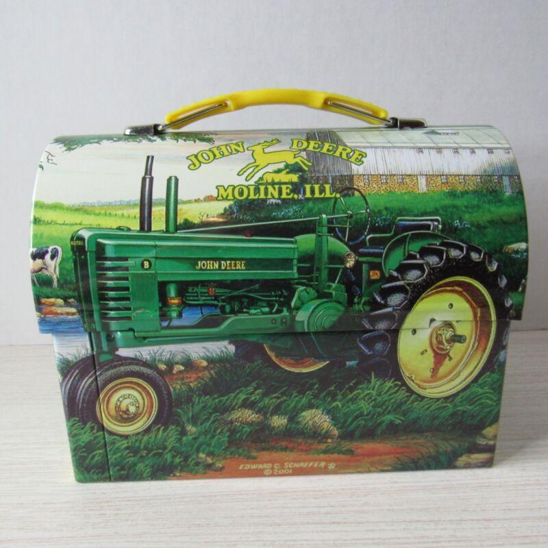 "Collectible Advertising John Deere 2001 Gummi Lunch Tin Box . 7"" x 3.5"" x 5.5"""