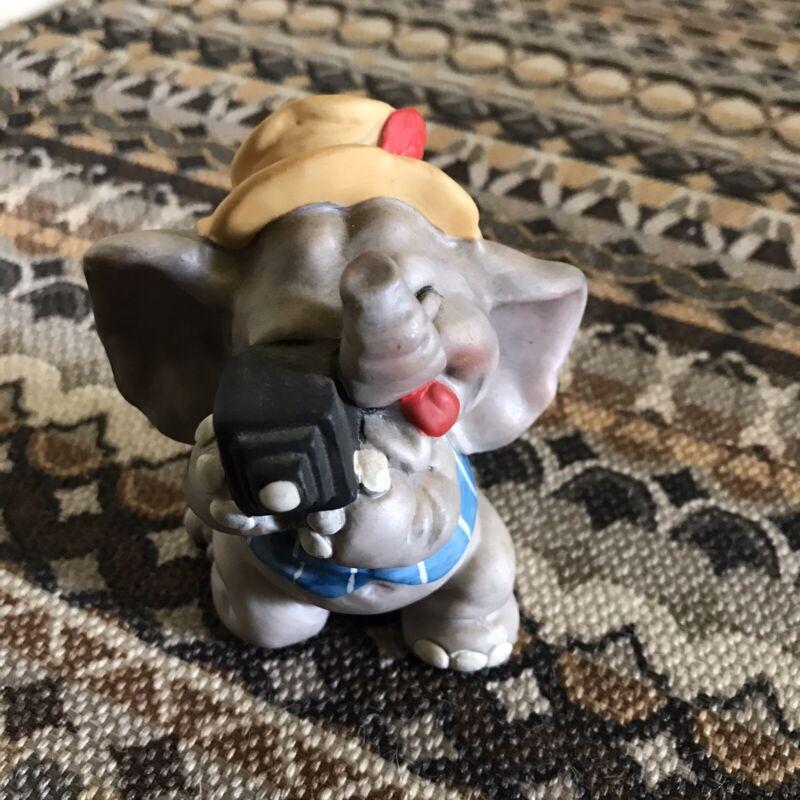 Vintage George Good Cute  Circus Elephant Photographer Camera Figurine