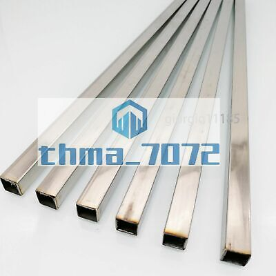6pcs 10mm X 10mm 12 Long 0.5mm Wall 304 Stainless Steel Square Tube
