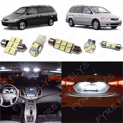 8x White LED lights interior package kit for 1999-2004 Honda Odyssey HO2W