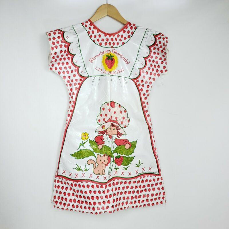VINTAGE Ben Cooper Plastic Strawberry Shortcake Costume Hallmark 80s Medium #V