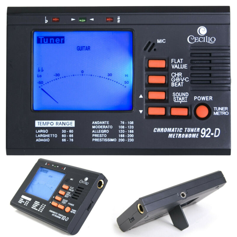Cecilio Chromatic/String Tuner with Metronome ~TM_92-D