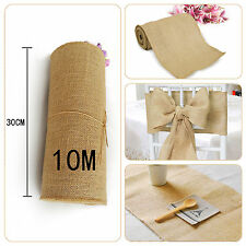 Hessian Table Runners Hessian Fabric Roll Chair Sash Natural Burlap Jute Wedding