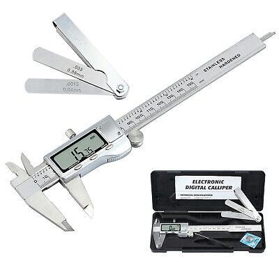 6digital Vernier Caliperfeeler Gauge Stainless Steel Electronic Measuring Tool
