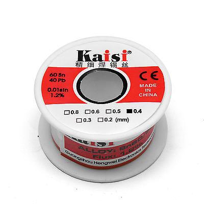 0.4mm X 65ft 6040 Rosin Core Flux 1.2 Tin Lead Soldering Solder Wire Spool 50g