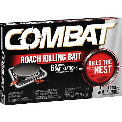 Kill Roach Bait - Combat MAX 6 ROACH KILLING BAIT STATION Kills The Nest LARGE & SMALL ROACHES