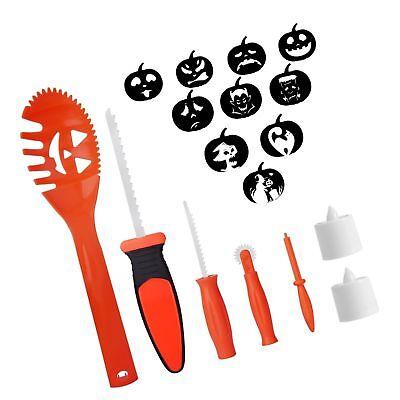 Easy Kids Halloween Decorations (SKINOSM Pumpkin Carving Kit for Kids, 5 Easy Halloween Pumpkin Carving Tools)