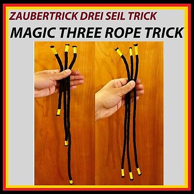 Zaubertrick ROPE MAGIC TRICK - 3 ROPE TRICK - Drei Seil Zaubertrick
