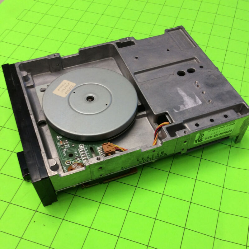 Datatech Computer 5-1/4IN Black Front Floppy Disk Drive
