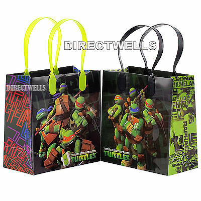 Ninja Turtles Goodie Bags (6 Pcs Ninja Turtles Authentic Licensed Small Party Favor Goodie Loot Bags)