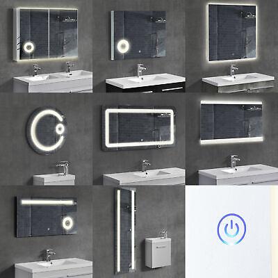 Moderner Runder Schrank ([neu.haus]® LED Badezimmerspiegel Wandspiegel Spiegel Kosmetikspiegel Schrank)