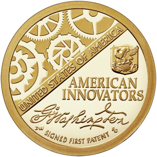2018 P&D American Innovation Dollar Golden Signed Frist Patent