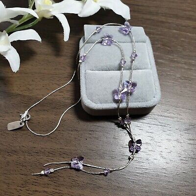 VINTAGE STERLING SILVER 925 BUTTERFLIES NECKLACE  for sale  Shipping to South Africa