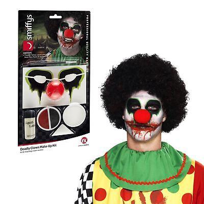 Halloween Deadly Creepy Clown Killer Circus Carnival Makeup SFX Liquid Latex Kit - Halloween Costumes Dead Clowns