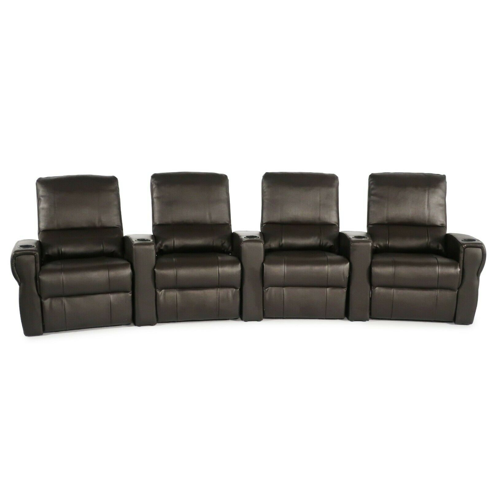 Seatcraft Pallas Brown Leather Recline Home Theater Chairs R