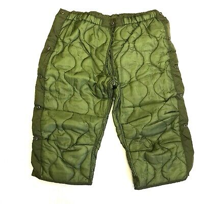 Military Cold Weather Field Pant Liners, M65 OD Green, LARGE Winter Trousers