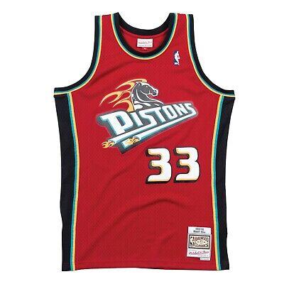 Grant Hill #33 Detroit Pistons Mitchell & Ness Mesh NBA Scarlet Swingman Jersey