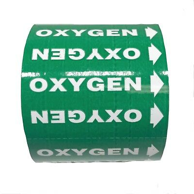 Medical Gas Markers Oxygen Green Background White Text
