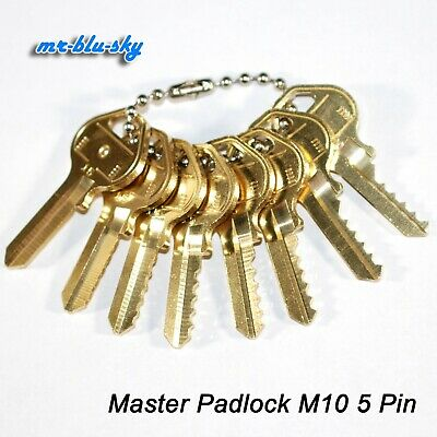 Master Padlock M10 Space Depth Keys Locksmith Code Cutting Key Set