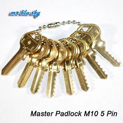 Master Padlock M10 Space Depth Keys Locksmith Code Cutting Key Set