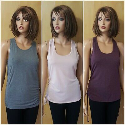 WOMENS LOT 3 FABLETICS LACED SIDES YOGA WORKOUT TANK TOPS ~ SMALL