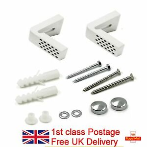 Angled Floor WC Toilet Pan / Bidet Fixing Bathroom Fitting Kit Inc Brackets
