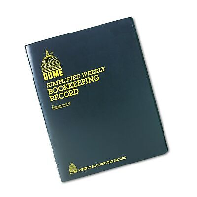Dome Dom600 Bookkeeping Record Book Weekly 128 Pages 9 X11 Inches Brown Each