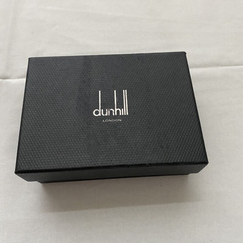 Alfred Dunhill Bourdon Simple Card Case Wallet New Black Authentic