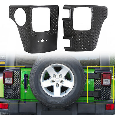 Rear Corner Guards Body Armor Kit Tail light Cover for Jeep Wrangler JK 07-18