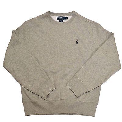 Polo ralph lauren sweatshirt fleece mens crew neck shirt for Crew neck sweater with collared shirt
